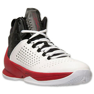 outlet store eba0c a2a5d 716227-101 Air Jordan Melo M11 White/Black/Gym red Sizes 8 -12 New ...