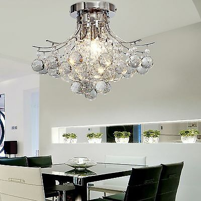 Classic Ceiling lamp Crystal lighting Fixture Crystal Chandelier Pendant Lamp E1