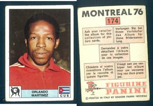Orlando-Martinez-CUBA-Panini-Boxing-CARD-Montreal-1976-VG-n-174-Olympic