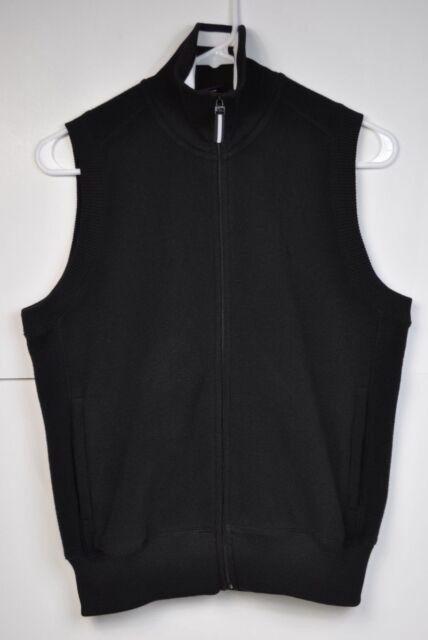 Ralph Lauren Polo Golf Black Fleece Full Zip Sleeveless Vest Size Medium EUC