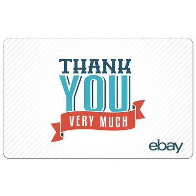 Thank You Very Much - eBay Digital Gift Card $25 to $200 -Email delivery