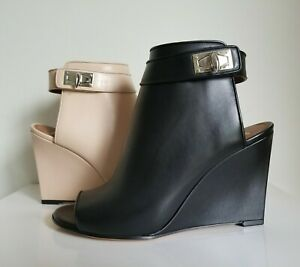 ce9815a0d60 Details about GIVENCHY ICONIC SHARK TOOTH OPEN TOE 2 COLORS WEDGE ANKLE  BOOTS 39 I LOVE SHOES