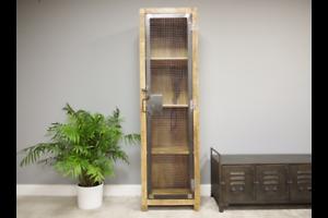 Tall-Industrial-Wooden-Metal-Display-Cabinet-Storage-Organiser-Bathroom