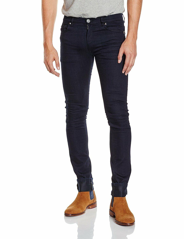Versace Jeans men's dark denim jeans - Skinny Fit, Stretch Running Small