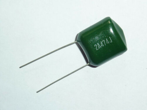 10PCS 100V 0.47uF 470nF 470000pF 2A474J ±5/% Mylar Film Capacitors Radial