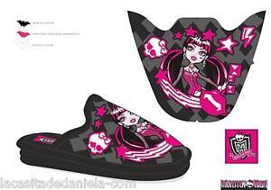 Boutique en ligne 6baa2 ef9b8 Detalles de MONSTER HIGH Zapatillas de estar por casa Pantuflas cuña  Draculaura/Pink Sleeper