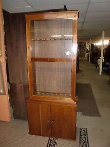 2 Piece Glass Door Gun Cabinet 8 Gun Holder Cabinet | eBay