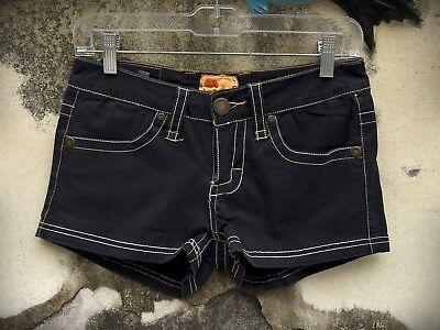 Twill 22 Size 26 Hot Mini Short Shorts Navy Blue