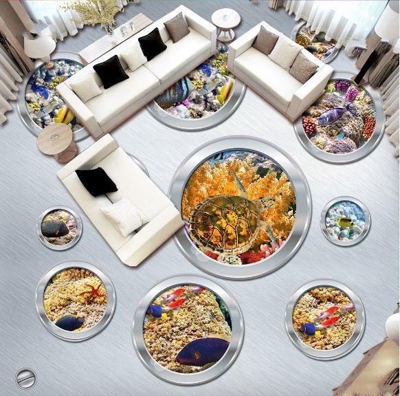 3D Viele einzigartige Fisch Fototapeten Wandbild Fototapete BildTapete FamilieDE