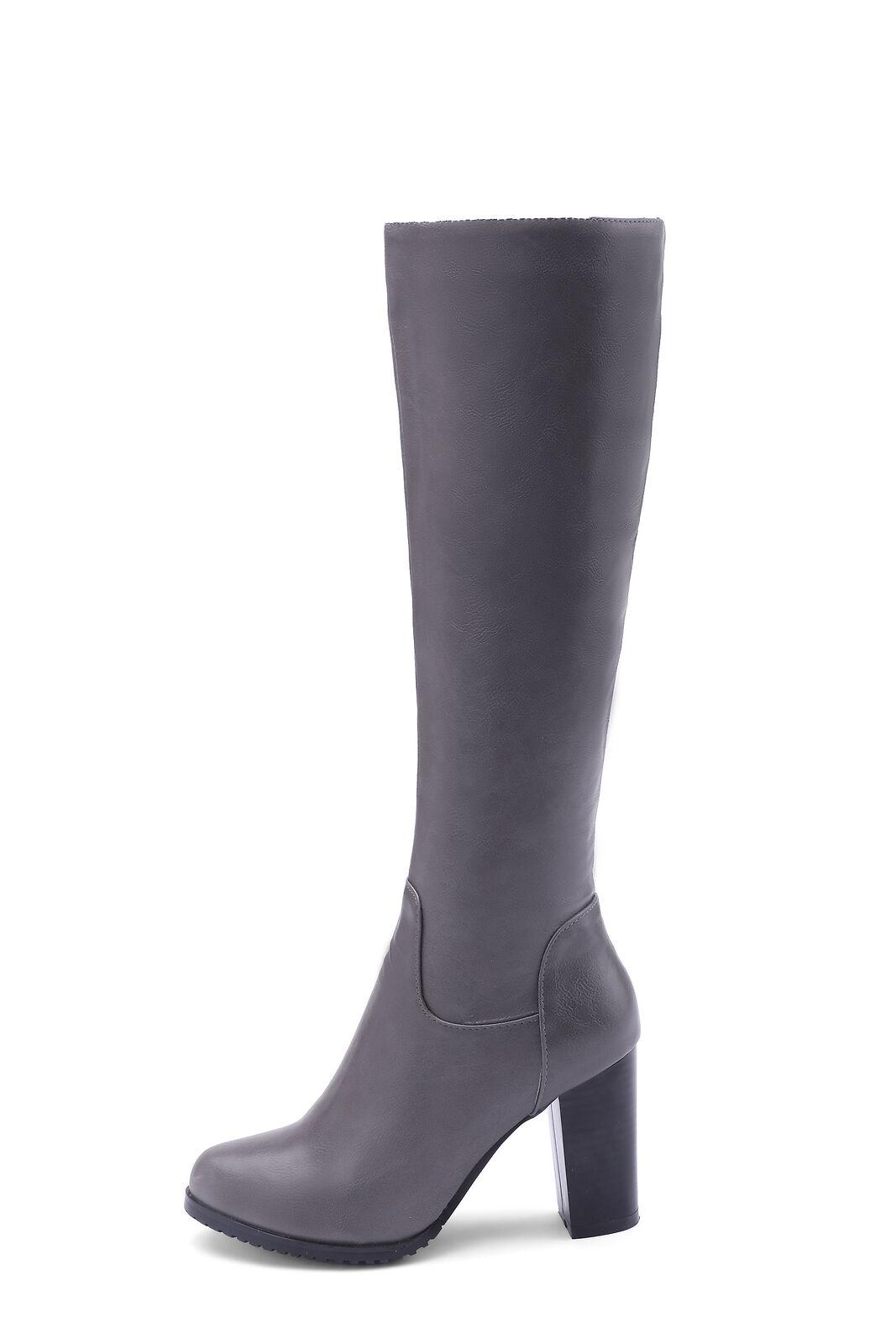 Elegant Kneehohe Stiefel Stiefel Damen Langschaft Stiefel Kneehohe Hoher Absatz Reißverschluss Mode 12e029