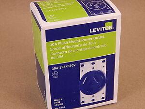 LEVITON FLUSH MOUNT POWER OUTLET RECEPTACLE NEMA 10-30 125//250V 30A 3-WIRE DRYER