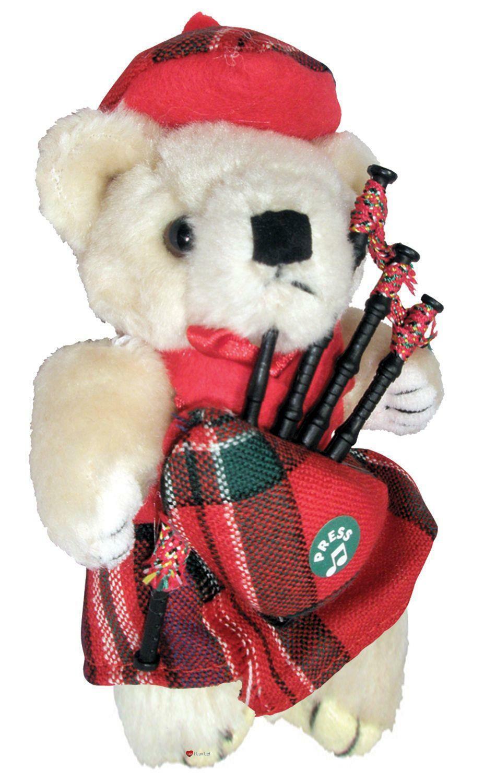 MacFarlane Tartan Musical Teddy Bear Scottish Gift Made in Scotland