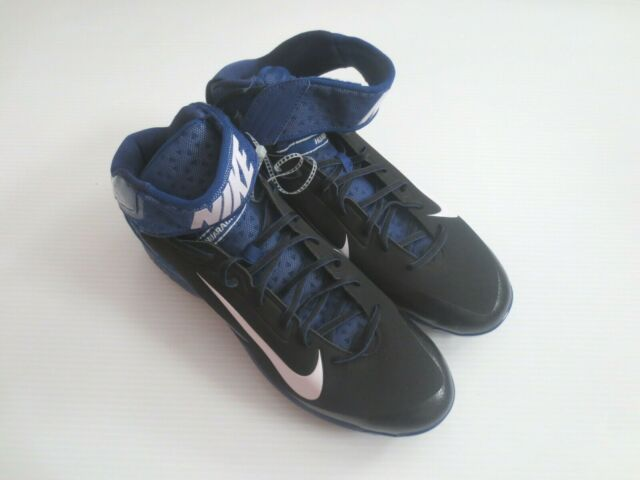 116b1ef4475a3 Nike Air Huarache Pro Mid Metal Baseball Cleats Black Blue White MLB ...