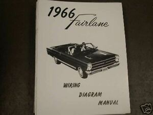 1966 Ford Fairlane Wiring Diagram Manual | eBay Fairlane Wiring Schematics on
