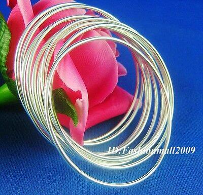 Wholesale 5pcs silver lady simple beautiful bangle bracelet