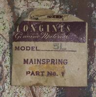 Vintage Longines 5l Ladies Watch Mainspring Swiss Longines Watch 5l Part