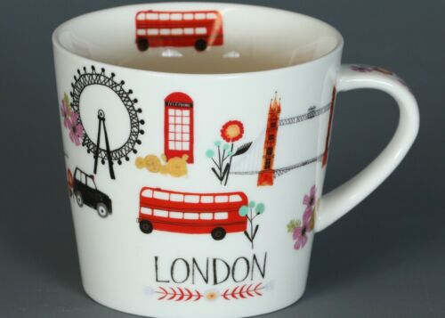 GRACE/'S TEAWARE LONDON V Shape Fine Ceramic Mug #1