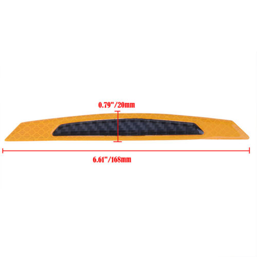 Orange Reflective Carbon Fiber Auto Car Side Door Edge Protector Guard Sticker