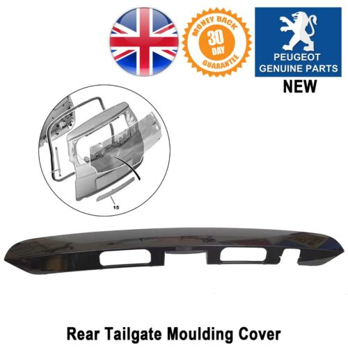 Boot Tailgate Rear Moulding Hatch Plynth Handle Black New 09-16 Peugeot 5008