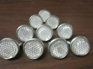 LOT-OF-10-CLEAR-ROUND-LICENSE-PLATE-BOLT-REFLECTOR-BIKE-FASTENERS