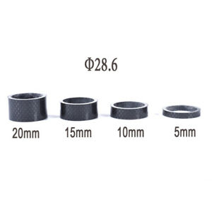 2pcs Bike Bicycle Carbon Fiber Washer Headset Stem Spacer 3//5//10//15//20//30mm