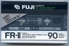 FUJI FR-II 90 Type II High Bias Blank Cassette NOS SEALED Cleaning Leader Tape