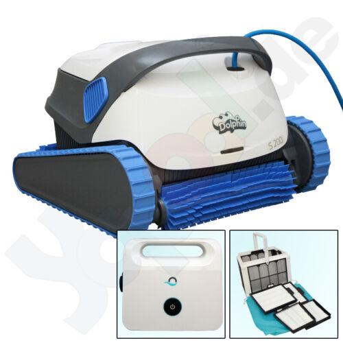 Dolphin S200 Poolroboter Poolsauger mit Aktivbürste und Filterkorb Boden+Wand