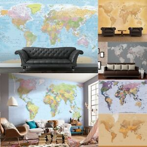 Map-of-the-World-Wall-Mural-Photo-Wallpaper-vintage-political-maps-office-kids