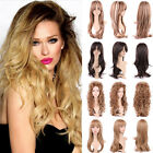 Fashion Full Wig Long Straight Curly Wavy Heat Resistant Synthetic Daily Wigs