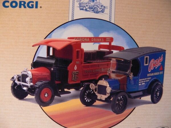 1 50 50 50 Corgi Modell T Van u.Thornycroft Bass 97751 8d408a
