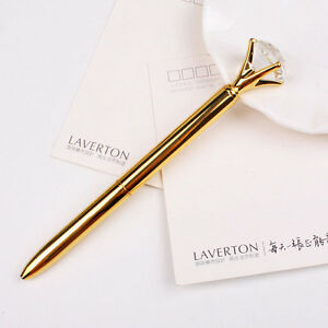 Image is loading Creative-19-Carat-Big-Diamonds-Metal-Pens-Gem-