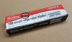 Sterling-Single-Edge-Razor-Blade-Pack-100-Blade-Made-in-USA-Scraper-Paint-Gasket
