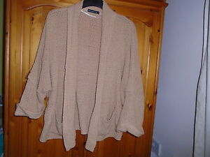 Cosy-beige-textured-cardigan-length-sleeves-ATMOSPHERE-size-12