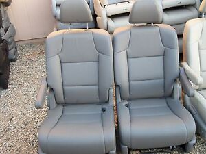 sale 2 bucket seats charcoal leather truck van classic car hotrod rv ebay. Black Bedroom Furniture Sets. Home Design Ideas