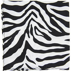 New Polyester Zebra Animal Print Formal Party occasion Necktie Red
