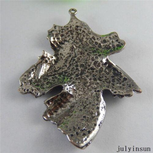 Antique Silver Alloy Mini Maple Leaf Pendants Findings Charms Crafts 6pcs 51037