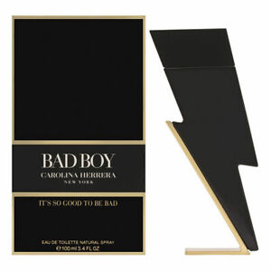 Bad Boy by Carolina Herrera for Men 3.4 oz Eau de Toilette Spray Brand New