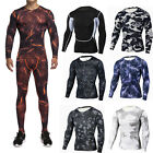 Men Compression Set Sports Apparel Skin Tights Base Under Layer T- Shirts Pants