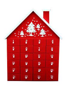 Gisela-Graham-en-Bois-de-Noel-l-039-Avent-Calendrier-De-Noel-Nordique-Maison-Decoration