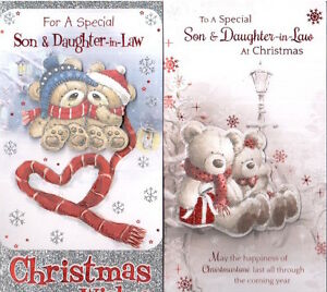 Son and Daughter in Law Christmas Card Lovely Verse  Various