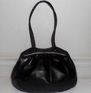 b43c9bbcc5 Image is loading Desmo-Black-Glove-Soft-Genuine-Leather-Satchel-Handbag-