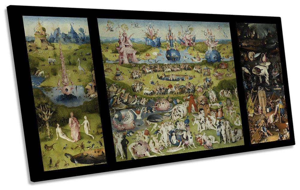 The Garden of EKunsthly Delights Hieronymus Bosch PANORAMIC CANVAS Wand Kunst Drucken