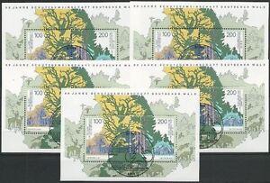 Bund-aus-1997-gestempelt-Bonn-Block-38-MiNr-1918-1919-Deutscher-Wald