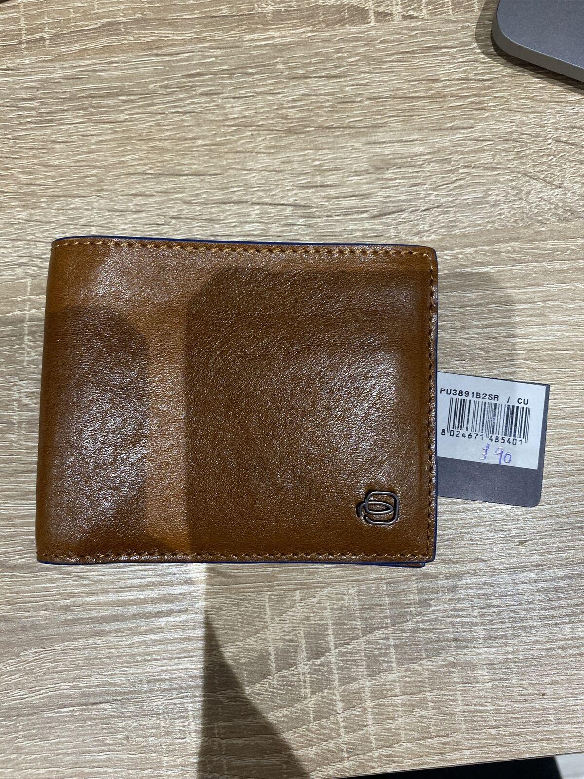 piquadro brown wallet RRP90
