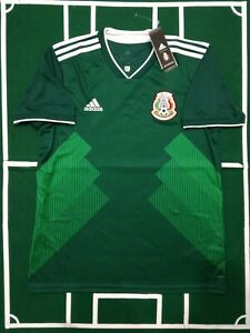Image is loading ADIDAS-MEXICO-SOCCER-TEAM-JERSEY-MAILLOT-LOCAL-GREEN- 21c9ffc11