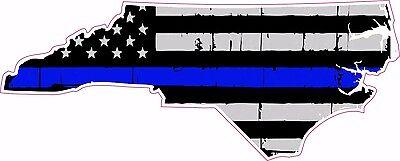 Thin Blue Line Police North Carolina Nc Us Flag Distressed