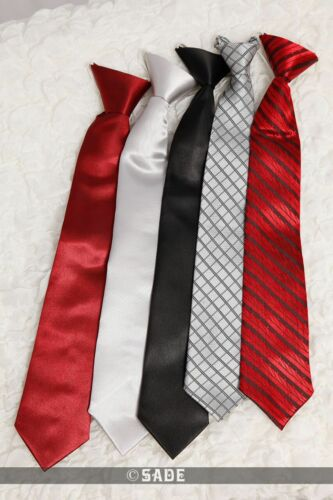Boys Holy Communion Plain Red Elastic Tie Prom Wedding Funeral Sizes 5-15 Years