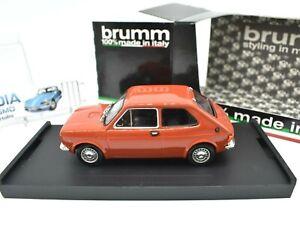 Modello auto scala 1/43 FIAT 127 Brumm RED DIECAST veicoli STRADALI VINTAGE