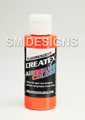 Createx Paint 60ml Fluorescent Iridescent Airbrush Colours -Fabric Wood Textile