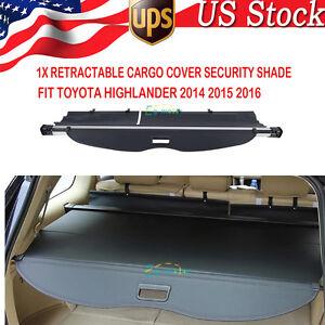 retractable cargo cover security shade fit toyota highlander 2014 2015 2016 ebay. Black Bedroom Furniture Sets. Home Design Ideas